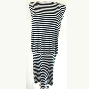 Alice + Olivia Striped Knit Open Back Dress